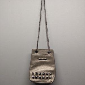 NINE WEST Studded Purse / Bag Gold Chain Strap